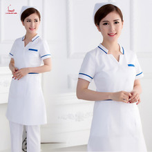 Korean slimming nurse suit female doctor nurse worker clinic white coat pharmacy beauty salon white gown work clothes