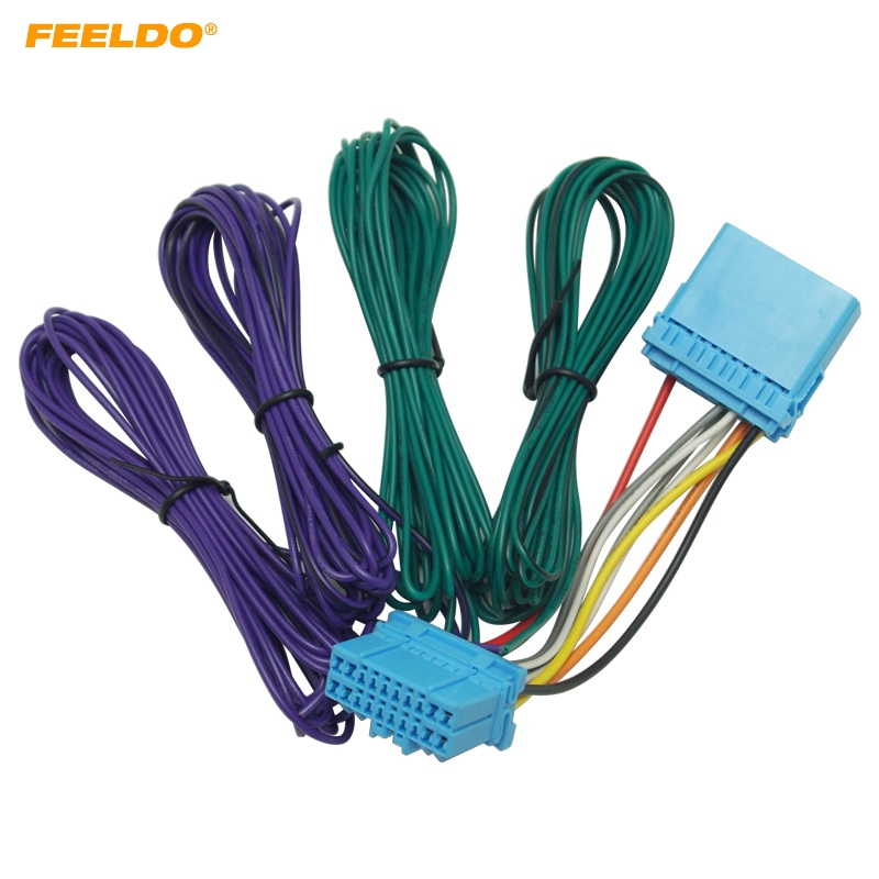 Feeldo 5pcs Car Stereo Radio Wire Harness Adapter For