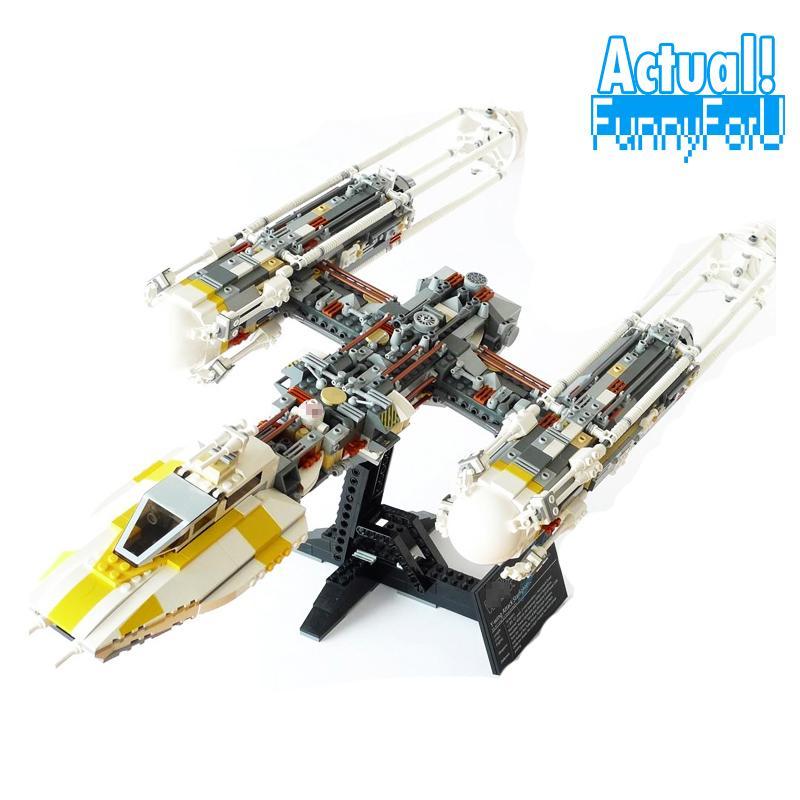 Clone 10134 MOC LEPIN 05040 1473Pcs Star Wars Y-wing Attack Starfighter Model Building Kits Blocks Bricks Toys for children Gift