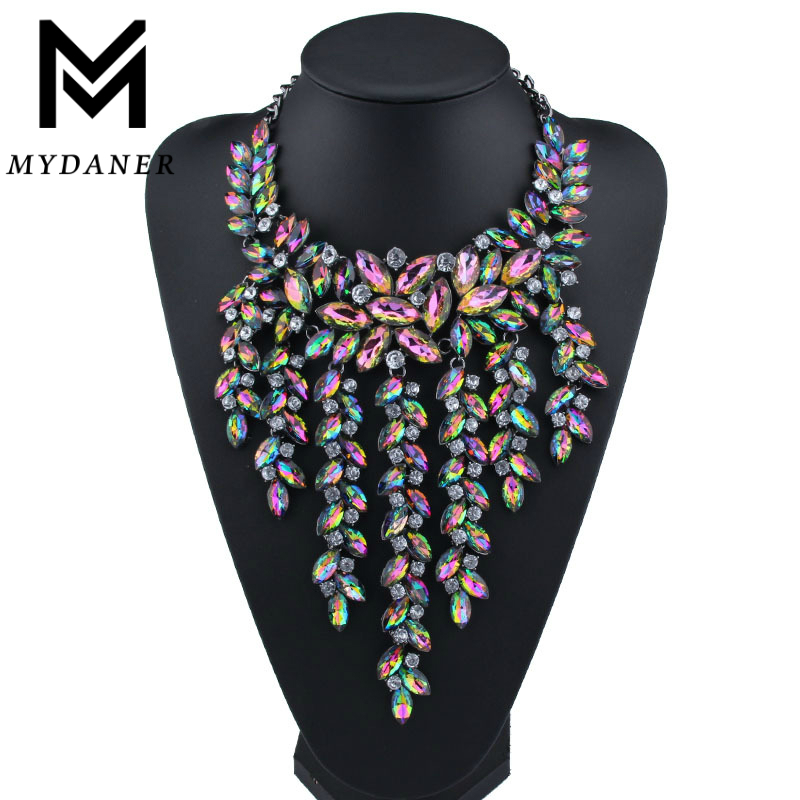 Luxury Multilayer Statement Maxi Necklace Big Gorgeous Crystal Pendant Choker Necklace Women Collares Largos Fashion Jewelry mjartoria crystal mystic statement necklace women maxi necklace fire pendants