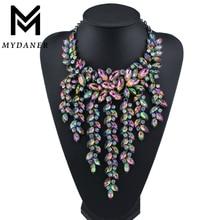 Luxury Multilayer Statement Maxi Necklace Big Gorgeous Crystal Pendant Choker Necklace Women Collares Largos Fashion Jewelry