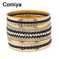 Wide white black geometric acrylic accessories silver plated alloy personality bangles pulseiras for women pulseira feminina