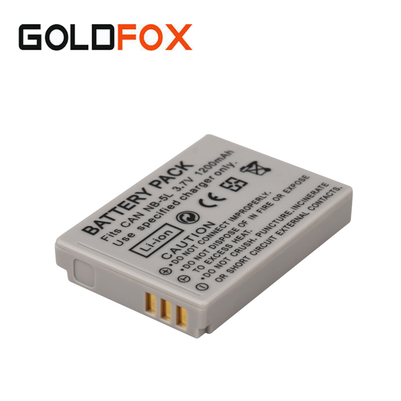 1200mAh Camera Battery Pack NB-5L NB 5L For Canon SX200is SX210IS SX220HS SX230HS CB-2LXE PowerShot S100 S110 SD950 SD970 SD990 ismart replacement nb 5l 3 7v 1200mah battery for canon powershot sx230hs sx210is more page 1