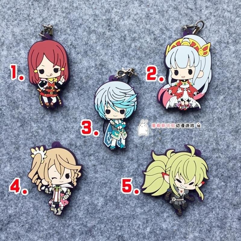 Tales of Zestiria Anime Mikleo Sorey Rubber Keychain