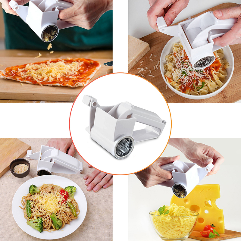 Hand-Cranked <font><b>Cheese</b></font> <font><b>Grater</b></font> <font><b>Rotary</b></font> <font><b>Cheese</b></font> <font><b>Graters</b></font> Ginger Chocolate Cutter with Stainless Steel Drum Dropshipping image