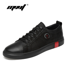Large Size Genuine Leather Men Shoes Fashion Sneakers Outdoor Casual Rubber Round Sole Autumn