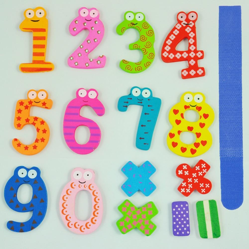Веселые красочные магнитные цифры деревянный Магниты на холодильник детские развивающие игрушки-Бесплатная кабель галстук