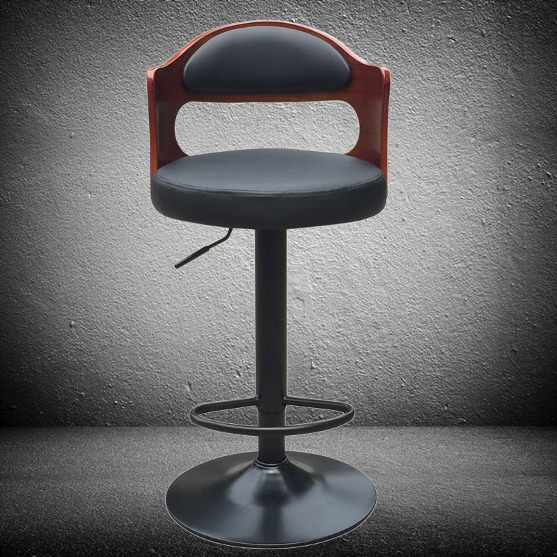 Furniture 2019 Latest Design Retro Fashion Real Wood European High Bar Chair Lift Swivel Chair At The Front Desk Bar Chairs