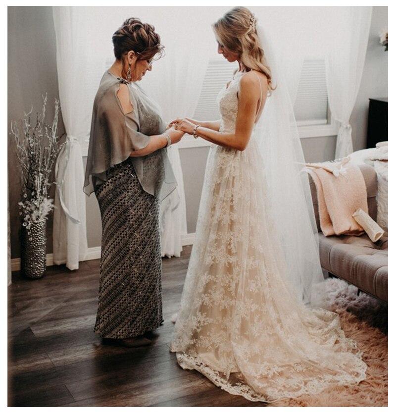 SoDigne цвета слоновой кости неформальное свадебное платье 2019 A линия кристалл створки невесты свадебное платье es Романтический Vestidos de novia Свад