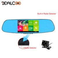 Dealcoo R6 Dual Car DVR Rearview Mirror Camera 3 In 1 DVR GPS Radar Detector Android Mirror Navigator Rear View Mirror Radar Cam