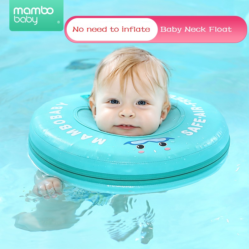 TPU Caver Waterproof Solid No Need Inflatable Swimming Pool Accessories Baby Swim Ring Swimming Neck Ring Float For Baby