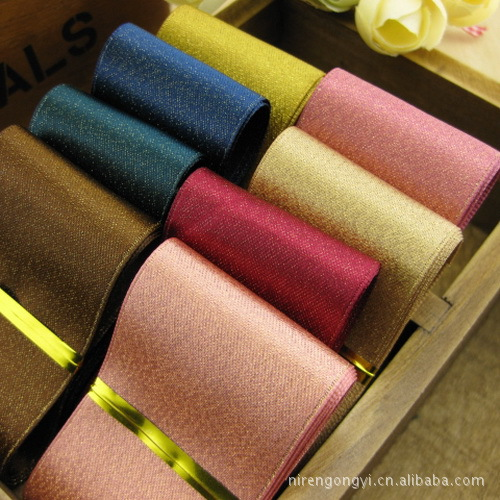 Sophia Warm house 2017 Top Fashion Ribbon 10m/lot 3.8cm The Supply Of Hair Accessories Yao Ming Gold Ribbon Weft Per Color 5 Meters From Purchase