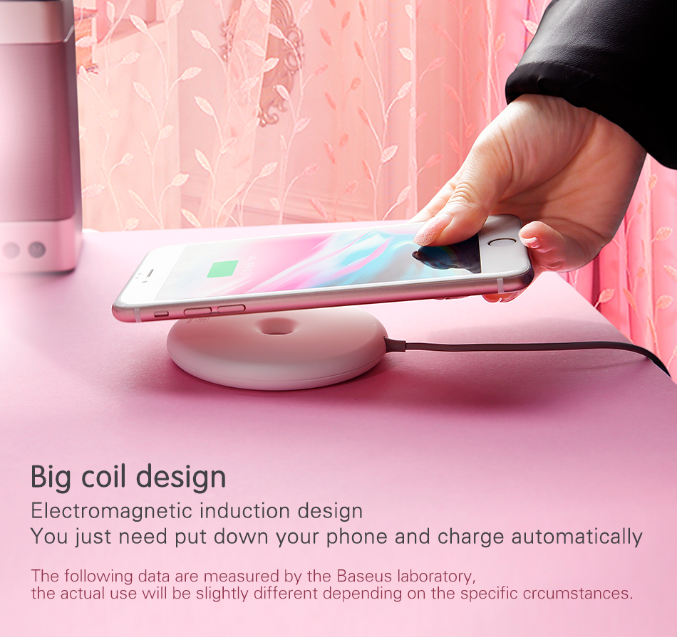 Cell Phone - Baseus 15W Fast Wireless Charger For iPhone/Samsung