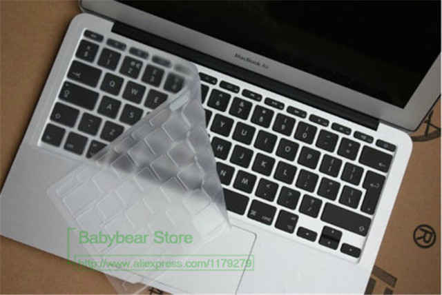 on sale 61552 a0d05 US $2.84 5% OFF|EU Version Clear Keyboard Cover Keypad Skin For MacBook Air  11