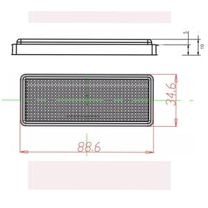 Image 2 - 6 sztuk PAOHEWE biały prostokątny reflektor samoprzylepne homologacji ekg opinie taśmy do przyczepy ciężarówki ciężarówka autobus RV karawana rower