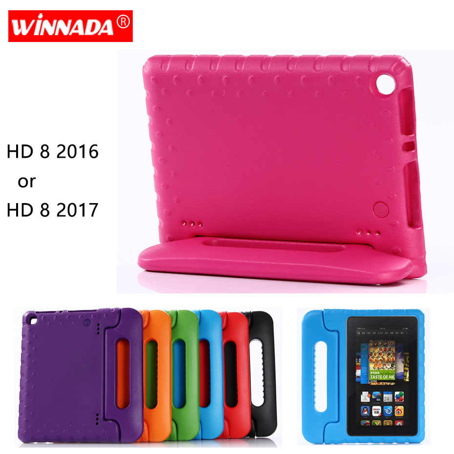 Para Amazon Kindle Fire HD 8 2017 funda protectora de Tablet para niños a prueba de golpes funda de soporte de mano EVA para Kindle Fire HD8 2016