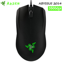 Razer Abyssus 2014 3500DPI Gaming Mouse , Ergonomics right handed PC Gamer mouse For LOL CF ,Support Synapse ,Without package