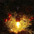 4X 48Ft(14.8M) Outdoor Vintage String Light with15 Incandescent 5W E27 Clear Bulbs Black plug-in Cord Globe light String Set