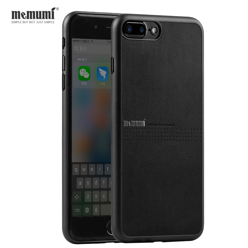 memumi PP Slim Case For iPhone 7 7 plus PU Leather Case for iPhone7plus Ultra Thin Phone Back Cover with Anti-Slip Design
