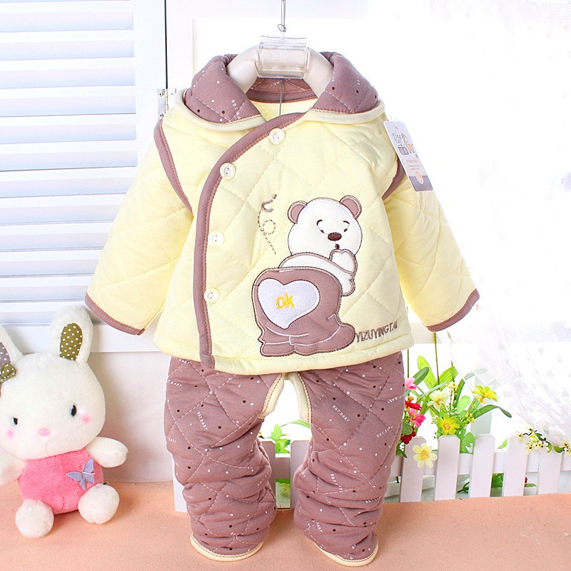 2015 Hot Newborn Baby Clothes Winter Baby Girl Clothes Set Bear