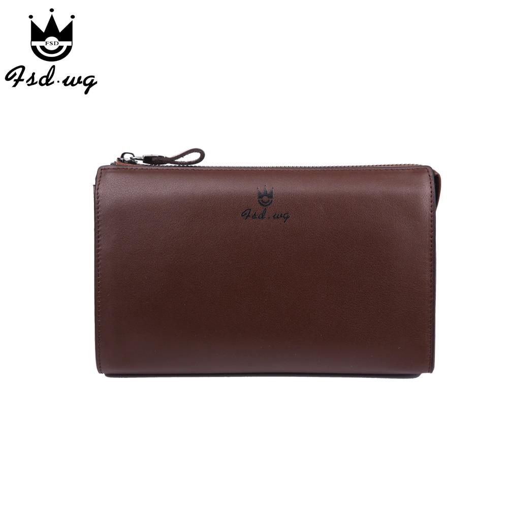 New men wallets long zipper designer mens wallets leather genuine famous brand men wallet  clutch bag purses and handbags