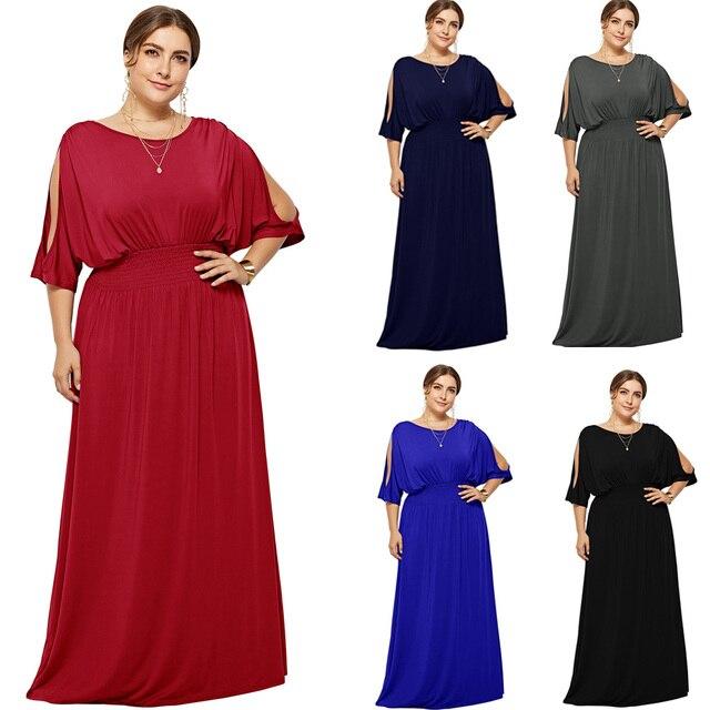 2020 heiße Plus Größe Batwing Ärmeln Elastische Abend Party Kleid Vestido Robe de Soiree Hochzeit Gast Kleid eDressU LMT FP3110