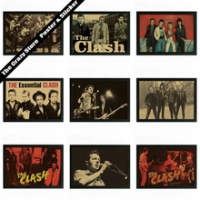 The Clash rock theatrical poster retro nostalgia kraft paper decorative painting wall sticker 42X30cm