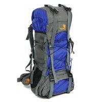 60Lハイキングバックパックリュックサック登山バッグ旅行バックパックナイロン防水登山トレッキングスポーツキャンプバッグリュックサック