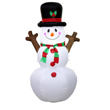 160cm Giant Snowman Mascot Inflatable Toys LED Lighted Christmas Oktoberfest Props Winter New Year Party Props Yard Decoration lighted inflatable flowers for wedding decoration