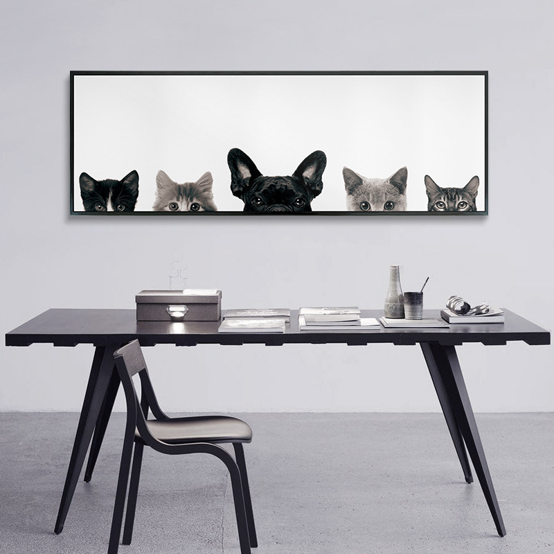 ⑥Modern New Pet dog Painting Wall Art Print Canvas Minimalist ...