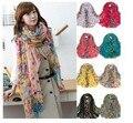 Акция! корейский женские модели Зимний Сад Цветочные шарфы шарф вс цветы цветущие пляжное полотенце бесплатная доставка