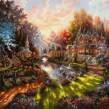 DIY Diamond painting cross stitch Painting Crafts Diamond Embroidery Decoration Gifts Landscape 5D DIY Diamond Mosaic diamond painting diy a1116