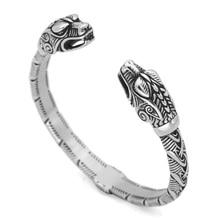 Скандинавский Викинг скандинавский Дракон скандинавские мужские часы наручные браслеты-манжеты с valknut подарочный пакет
