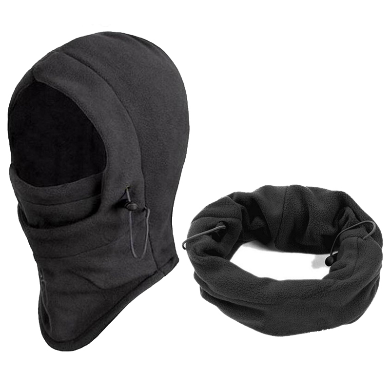 Winter Bomber Hat Windproof Warm Ear Protect Face Mask Outdoor Fleece Caps
