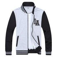 Plus size Baseball Jacket Men Hoodies Spring Brand Clothing man Sweatshirt L 5XL 6XL 7XL 8XL College patchwork color
