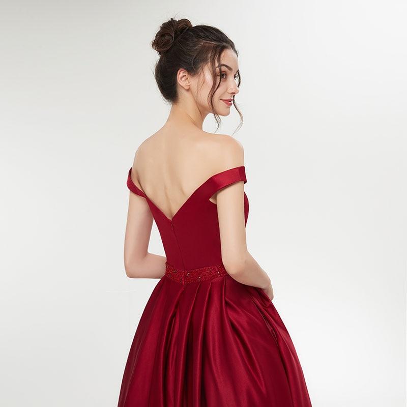 Elegant 2018 Enkel Vin Rød Aften Kjole Damer Formel Lange Kvinder - Særlige occasion kjoler - Foto 5
