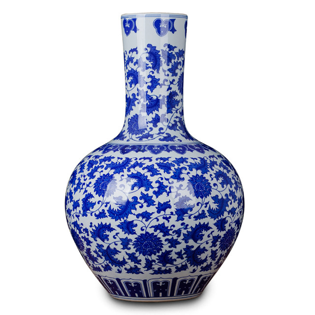 Online Shop Antique Style Chinese Blue And White Porcelain Vase