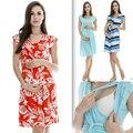 MamaLove Моды материнства Одежда материнства Платье кормящих Одежды кормящих платья Кормящих Летнее Платье для Беременных Женщин
