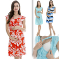 MamaLove Fashion maternity Clothes maternity Dress nursing Clothes nursing dress Breastfeeding Summer Dress for Pregnant Women
