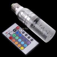 Бесплатная доставка 1 шт. AC 90 ~ 240 В 4 Вт E27 RGB светодиодные лампы 16 Цвет Изменение Кристалл свет пятна с Дистанционное управление