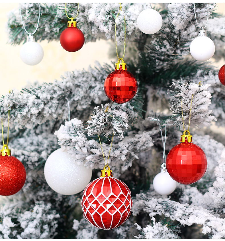 06 inhoo Plastic Christmas Balls For Home Christmas Tree Decorations White Baubles Xmas Ornaments Pendant Balls 2019 New Year Gifts