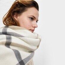 2018 bắt chước Cashmere Khăn Choàng Cổ Nữ lớn kiểm tra kẻ sọc Acrylic chăn Khăn choàng nữ mùa đông dày ấm khăn choàng len thương hiệu khăn