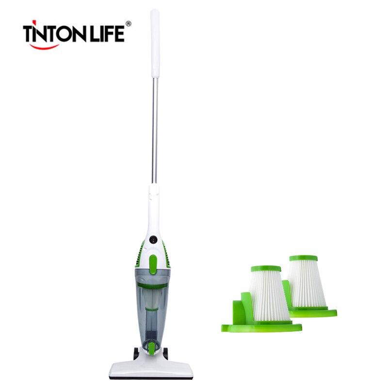 TINTON VIE Portable et Multifonctionnel Aspirateur UE Plug avec 2 Filtres HEPA