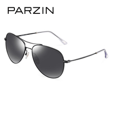 PARZIN Brand Alloy Frame Polarized Sunglasses For Men High Quality Multi-layer Coating Polarizing Sun Glasses For Driving 8165