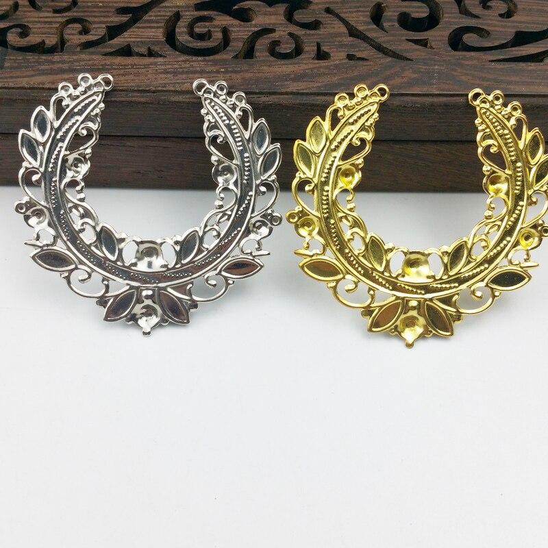 20pcs 45mm Filigree Flower  Wraps Metal Charms For Embellishment Scrapbook  DIY Jewelry Metal Craft  Wraps Box Decoration
