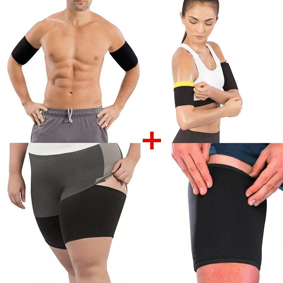 1 Pair Women Leg Sleeves Arm Warmers Stretch Hot Sale Sport Slimming Compression Control Thigh Sleeve Neoprene Shaper Arm Sleeve