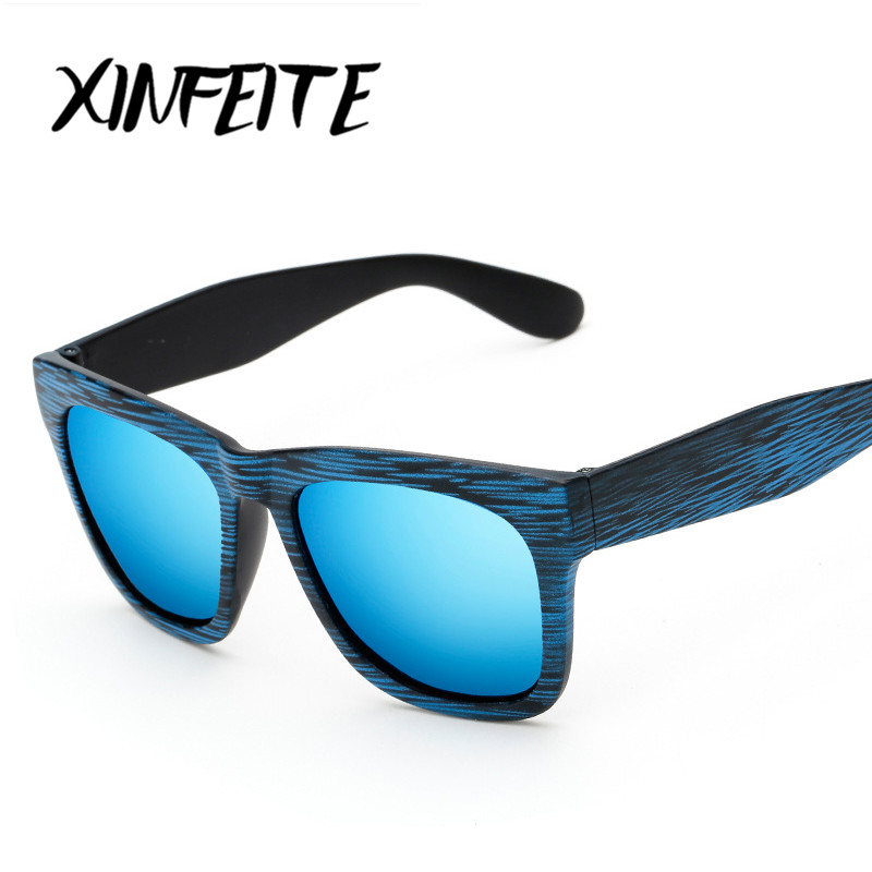 XINFEITE 2017 Classic Fashion Men And Women Polarized Sunglasses Driving Retro Oculos Male Designer Sun glasses UV400 Wood Grain