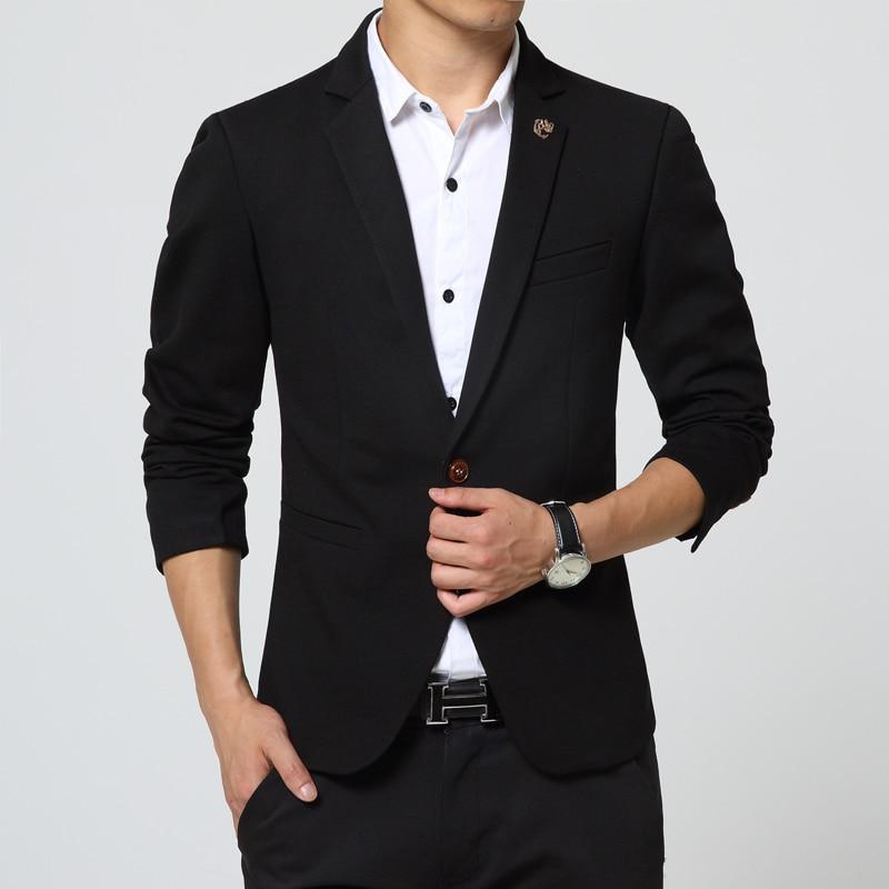 Mens Blazer Jacket black Slim Fit royal blue suit jacket casual ...