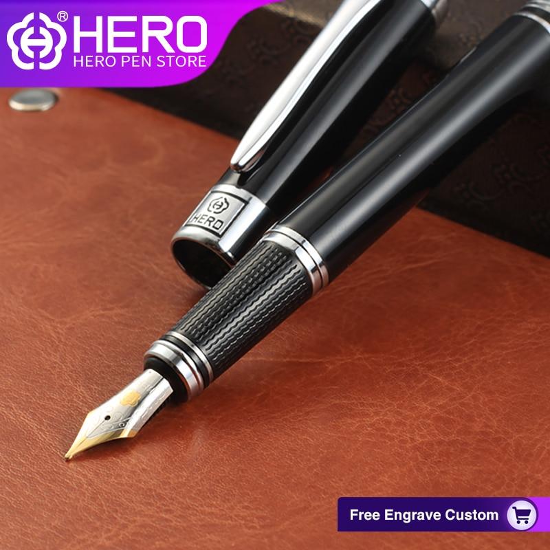 Hero Fountain Pens Original Authentic Writing Supplies High Quality Luxury Iraurita 0 5mm Smoothly Writing Pens