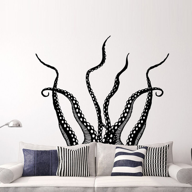 Hot Sale Octopus Tentacles Wall Stickers Home Decor Animals Wall Decals Living Room Children Room Nursery Wallpaper Murals